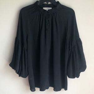 Loft black tunic top with oversized sleeves Large